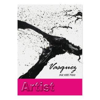 Vasquez - Bold Artist Painter Illustrator fuschia Business Card Templates