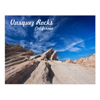 Vasquez Rocks county park near los angeles Postcard