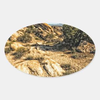 Vasquez Rocks View Oval Sticker