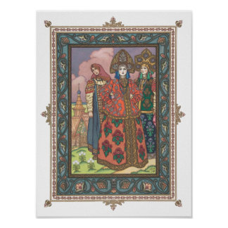 Vassilissa the Beautiful Russian Folktale Poster