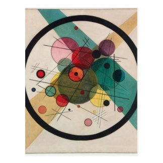 Vassily Kandinsky Circles in a Circle Postcard
