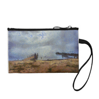 Vast blue beyond the shore coin wallet