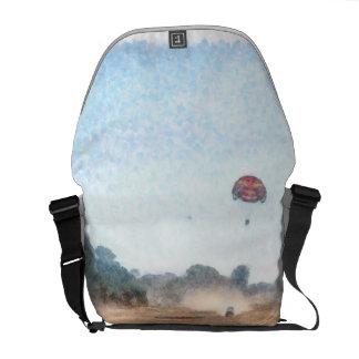 Vast blue beyond the shore messenger bag
