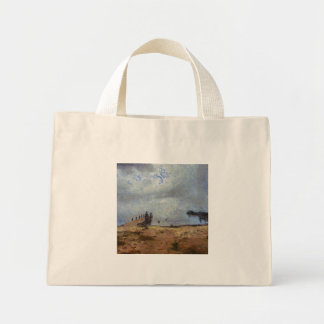 Vast blue beyond the shore mini tote bag