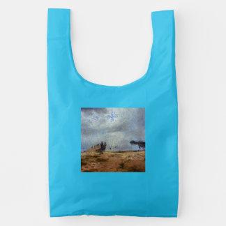 Vast blue beyond the shore reusable bag