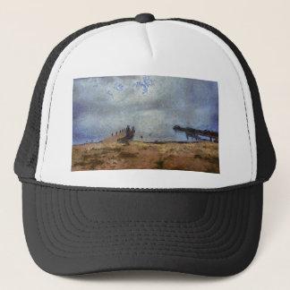 Vast blue beyond the shore trucker hat