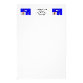Västerbottens län flag stationery paper