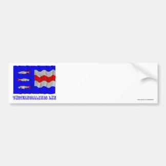 Västernorrlands län waving flag with name bumper sticker