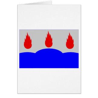 Västmanlands län flag card