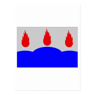 Västmanlands län flag postcard