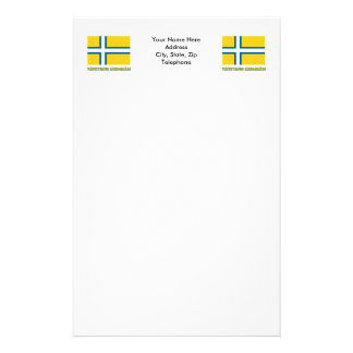 Västsverige flag with name (unofficial) customized stationery
