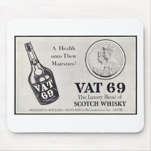 Vat 69 scotch wiskey mousepads