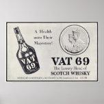 Vat 69 scotch wiskey posters