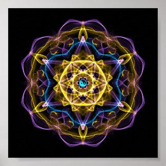 Vata Dosha Balancing Ayurveda Mandala I Poster