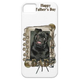 Vatertag - Steintatzen - Mops - Ruffy iPhone SE/5/5s Case