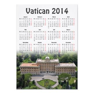 Vatican 2014 calendar card