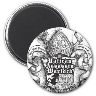 Vatican Assassin Warlock 2 Inch Round Magnet