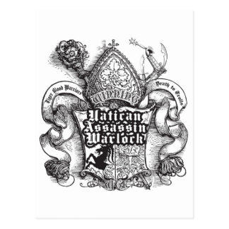 Vatican Assassin Warlock Post Card