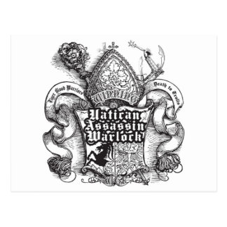 Vatican Assassin Warlock Postcard