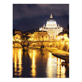 Vatican Bridge Of Angels Postcard