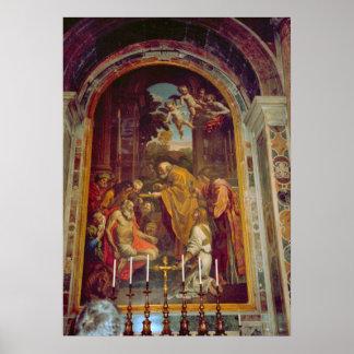 Vatican, capilla lateral en San Pedro Poster