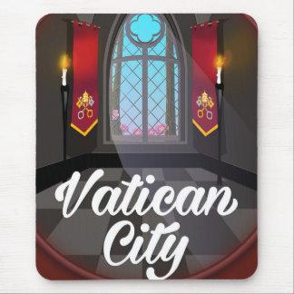 Vatican city cartoon travel poster mouse pad