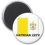 Vatican City Flag 2 Inch Round Magnet