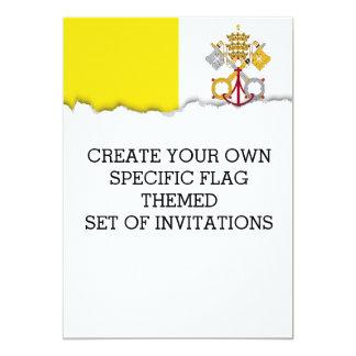 Vatican City flag Card