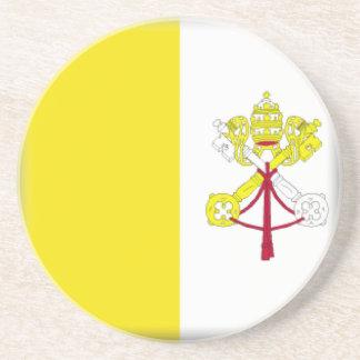 Vatican City Flag Beverage Coaster