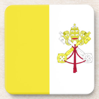 Vatican City Flag Drink Coasters