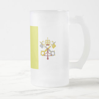 Vatican City Flag Frosted Glass Beer Mug