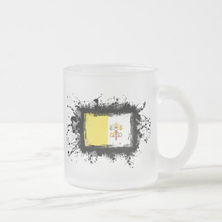 Vatican City Flag Frosted Glass Coffee Mug