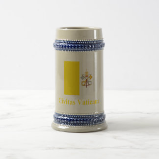 Vatican City Flag with Name in Latin Coffee Mug