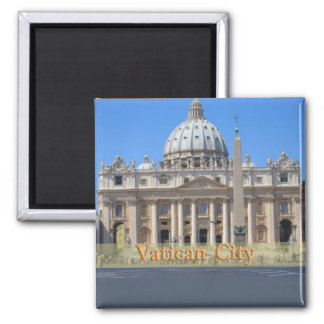 Vatican City 2 Inch Square Magnet