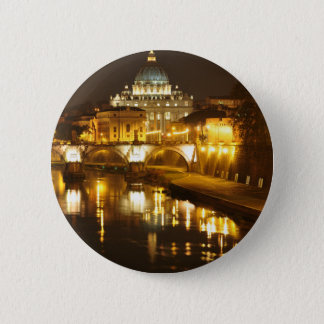 Vatican city, Rome, Italy at night Button