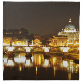 Vatican city, Rome, Italy at night Cloth Napkin