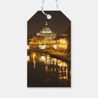 Vatican city, Rome, Italy at night Gift Tags
