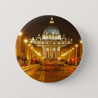 Vatican city, Rome, Italy at night Pinback Button
