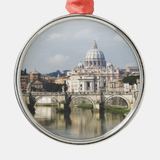 Vatican City Round Metal Christmas Ornament