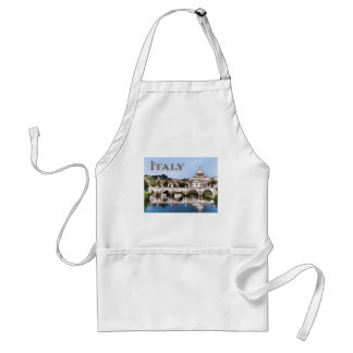 Vatican City Seen from Tiber River text ITALY Adult Apron