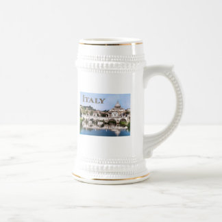 Vatican City Seen from Tiber River text ITALY Beer Stein