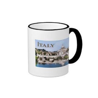 Vatican City Seen from Tiber River text ITALY Coffee Mug