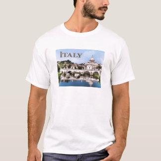 Vatican City Seen from Tiber River text ITALY T-Shirt