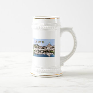 Vatican City Seen from Tiber River text   ROME Beer Stein