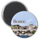 Vatican City Seen from Tiber River text   ROME Magnet