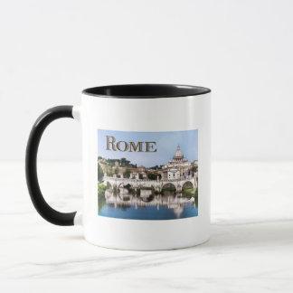 Vatican City Seen from Tiber River text   ROME Mug