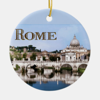 Vatican City Seen from Tiber River text   ROME Ornament