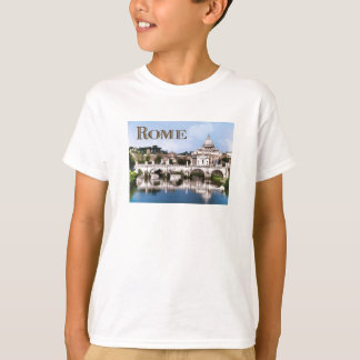 Vatican City Seen from Tiber River text ROME T-Shirt