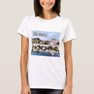 Vatican City Seen from Tiber River text ROME T-Shirt