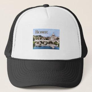 Vatican City Seen from Tiber River text ROME Trucker Hat